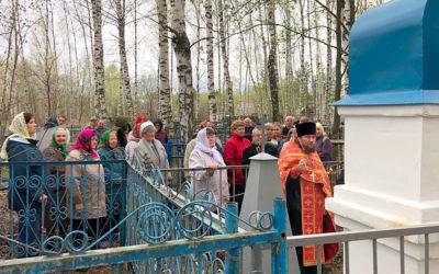 Пасхальный молебен совершен на могиле протоиерея Валериана Успенского